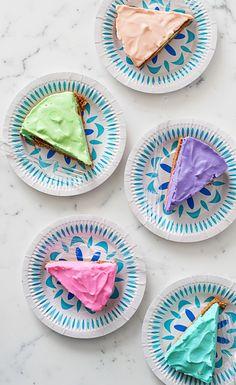 DIY Color wheel cheesecake.
