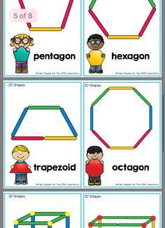 Shapes freebie Pre K Activities, Preschool Learning Activities, Kindergarten Activities, Preschool Activities, Kids Learning, Shape Activities Kindergarten, Teaching Shapes, Math For Kids, Elementary Schools