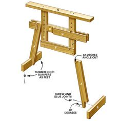 Adjustable Saw Horses - Step by Step | The Family Handyman