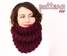 Immediate download - Knitting Pattern - Bulky Barbwire Cowl - PDF