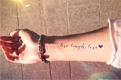 live love laugh tattoos - Google Search