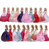 Teenitor® 5pcs Handmade Fashion Wedding Party Gown Dresses & Clothes for Barbie Doll Xmas Gift Shipping By FBA