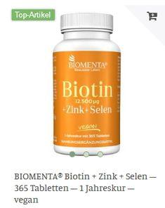 Erhältlich im onlineshop von biomenta.de mit 15% Cashback für KGS Partner Biotin, Lunges, Kai, Personal Care, Vegan, Self Care, Personal Hygiene, Vegans, Chicken