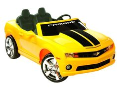 Chevrolet Racing Camaro 12v Car By NPL | Yellow