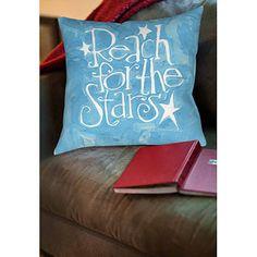 "Thumbprintz Reach for the Stars Indoor Pillow, 14"" x 14"""