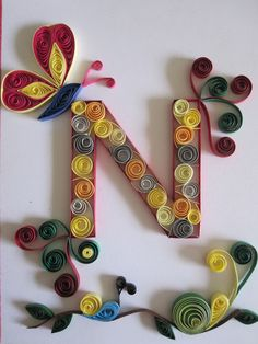 Quilling Letters, Quilling Paper Craft, Paper Crafts, Layout Banner, Polka Dot Letters, Rolled Paper Art, Paper Quilling Designs, Palermo Italy, Knit Basket