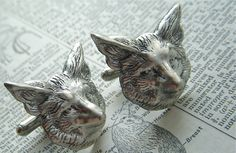Hey, I found this really awesome Etsy listing at https://www.etsy.com/listing/89146384/silver-fox-cufflinks-big-bold-size