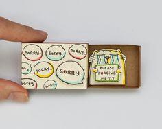 Sorry Please forgive me Card Matchbox / Gretting Card / von shop3xu