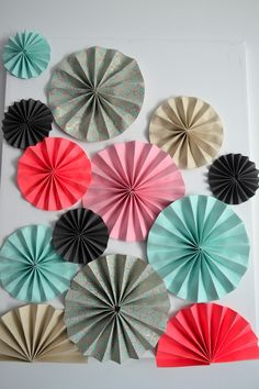 diy wall decor paper. DIY Friday Series  Spruce Up Your Bedroom Walls With Pinwheels Giant Party Fans Tulle Poms And Squares