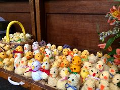 Easter Treats knitted for the Easter day service at St Michael's Framlingham. New members always  welcome to join the group whether knitters, stitchers or tea drinkers!