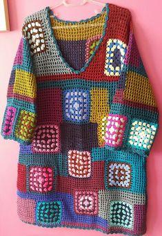 Hand Knitting Women's Sweaters - Knitting and Crochet - - Hand Knitting Women's Sweaters - Knitting and Crochet Crochet Cardigan Pattern, Crochet Jacket, Crochet Blouse, Slip Stitch Crochet, Knit Crochet, Crochet Designs, Crochet Patterns, Knitting Patterns, Crochet Woman
