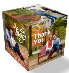 photo block 3x3x3 Paperboard Box | Personalize with your own Graphics, Photos, Initials & Dates! | Custom Wedding Favor Boxes | ThePaperWorker.com    #wedding #favor #shower #gifts