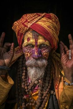 Colorful man.