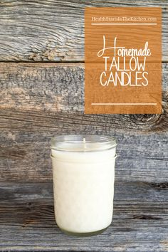The perfect holiday gift, Homemade Tallow Candles.   Non-toxic and you can buy the tallow from a local farmer #buylocal #knowyourfarmer The scent is customizable too!