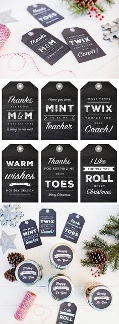 6 Simple Mason Jar gifts with Printable Tags to make gift giving easy and inexpensive for even the hardest to shop for on your Christmas list! We all have those people on our gift list that can be tr