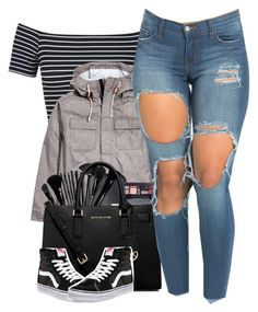 """• Vans  •"" by aaleeyahxpetty ❤ liked on Polyvore featuring Miss Selfridge, H&M, MICHAEL Michael Kors and Vans"