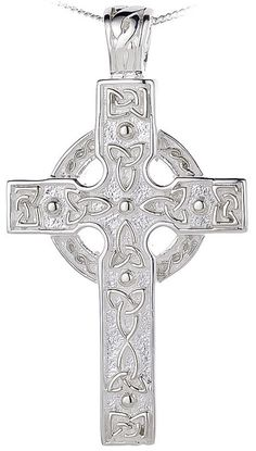 Heartland Womens Sterling Silver Heart Shaped Tip Cross Necklace Best Quality USA Made Chain Choice