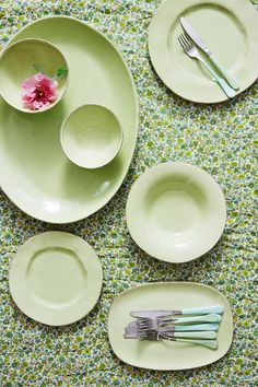 RICE Green Ceramic HS15 collection. Handmade in Portugal.