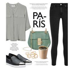 """Paris Walk"" by monmondefou ❤ liked on Polyvore featuring PYRUS, Acne Studios, JFR, Chloé and Miu Miu"