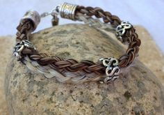 Braided Horsehair Bracelet with Three Silver Tube by JaxSnacks, $40.00