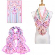 3b6ec73a6fc Foulard femme mix d imprimés -  foulard  mode  tendance  fashion  milenamoda  milena-moda.com