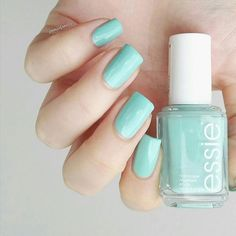essie's adorable crème de menthe mint essie nail polish 'mint candy apple' is perfect in any season. don't be fooled by its sweet exterior, this apple bites back.