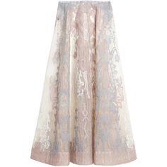 Saptodjojokartiko Multicolor Missha Embroidered Skirt ($2,540) ❤ liked on Polyvore featuring skirts, multi, multi colored skirt, multi color skirt, high waisted skirt, full length skirt and high waisted knee length skirt