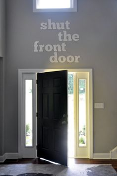 No seriously - shut the front door. East Coast Creative: Design it How you Like it House Tour Update} Future House, My House, Wooden Letters, Canvas Letters, Humble Abode, Foyer, Entryway, My Dream Home, House Tours