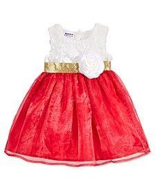 Blueberi Boulevard Little Girls' Rosette Top Dress
