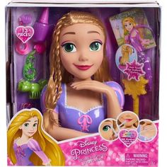 Disney Princess Deluxe Rapunzel Pretend Play Toy Doll Styling Head, 87362