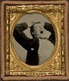 ca. 1854, [portrait of young man yawning] via the Donald Weber Collection at George Eastman House's Photostream on Flickr