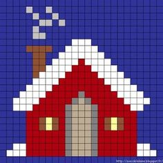 Fant noen fine diagrammer av e Cross Stitch House, Cross Stitch Cards, Cross Stitching, Cross Stitch Embroidery, Pixel Crochet, Crochet Chart, Crochet Blanket Patterns, Quilt Patterns, Cross Stitch Designs