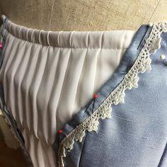 Ivory pearl  embellishment garter Bridal Garter Blue ribbon with Ivory lace edge