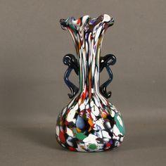 Murano. Glass vase. Millefiori. Fratelli Toso. Italy. 1940 - 195