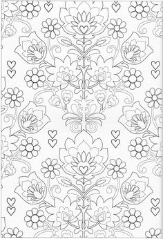 Scandinavian Coloring Book Pg 40 Pattern Coloring Pages, Free Adult Coloring Pages, Coloring Book Pages, Printable Coloring Pages, Coloring Sheets, Doodle Coloring, Colouring Pics, Painting Patterns, Color Patterns