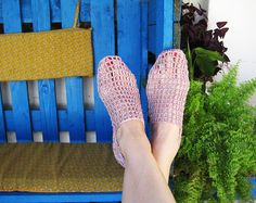 Crochet womens slippers made of special yarn for summer - linen, cotton, viscose. The sole is made of twine. Eko white slippers. Elegant slippers for spring, summer and autumn. Valentines gift for wife.   size: USA 8.5 UK 6 EU 39 JAP 24.5  Please contact me if you want another size.  This item is ready to shipping from Bulgaria.  Please, ensure filling out your address details accurately.   Be aware that the color may slightly be different due to the difference of monitor screens.   Thank…