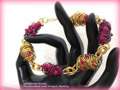 Jade wire wrapped Bracelet Gemstone Bracelet Womens Bracelet