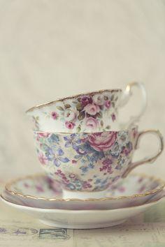 Teacups in spring