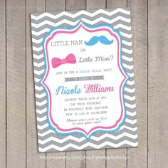 Except not the gender reveal part... Cute idea for a neutral shower theme if not finding out the sex.