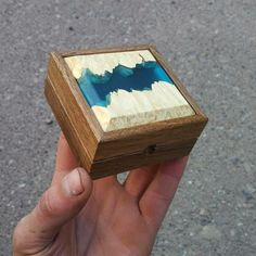 Resin Ring, Resin Pendant, Resin Jewelry, Proposal Ring Box, Wooden Ring Box, Anniversary Gifts For Him, Wood Resin, Wood Rings, Wood Boxes