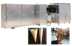 Automatic Ice Cream Cone Production Line Business Please contact with lisa@machinehall.com for machine price and details.