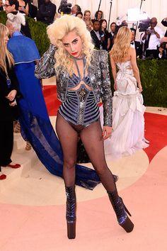 Lady Gaga in Atelier Versace at the 2016 Met Gala