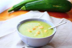 Romige courgette soep met zalmsnippers - Francesca Kookt