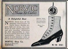 Norvic Shoe Co 1915 ad