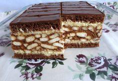 Gesztenyés-kekszes szelet Andi konyhájából recept képpel. Hozzávalók és az elkészítés részletes leírása. A gesztenyés-kekszes szelet andi konyhájából elkészítési ideje: 45 perc