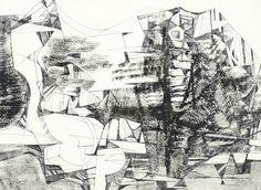 106  Roberto Burle Marx  Abstrato - nanquim  1979 - 55 x 75