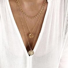 $10.20 | ZG 2019 Fashion Gold Color Multilayer Sequins Statement Bib Chokers Necklaces Women Choker Boho Jewelry Kolye Outfit Accessories FromTouchy Style | Free International Shipping. Multi Layer Necklace, Multi Strand Necklace, Necklace Set, Gold Necklace, Pendant Necklace, Layered Necklace, Choker Necklace Outfit, Scorpio Necklace, Trendy Jewelry