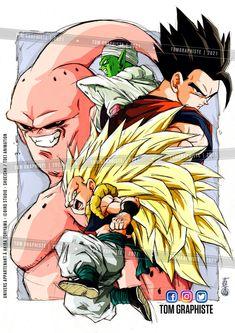 Dragon Ball Z, Dragon Z, Dragon Ball Image, Dbz Drawings, Majin Boo, Ball Drawing, Joker Art, Composition, Chibi