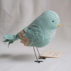 """Mabel"" by Ashley Anna Brown at Secret Holiday.  #birds #embroidery"