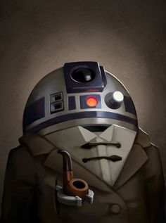The Victorian R2-D2 portrait by Greg Peltz.